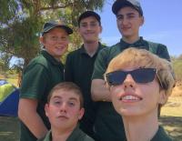 camp site selfie???